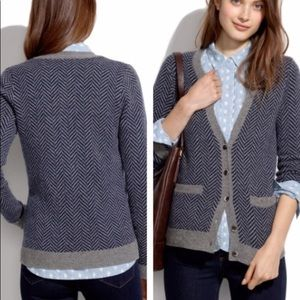 Madewell Journal Herringbone Cardigan Small